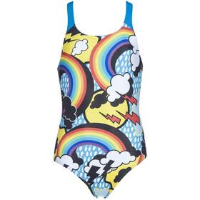 arena Rainbows Swim Pro Back One Piece Badpak Meisjes, black/turquoise